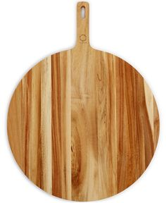 Martha Stewart Collection Round Acacia Paddle Cutting Board - Cutlery & Knives - Kitchen - Macy's