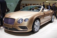 2015 Bentley Continental GT Convertible (Geneva International Motor Show 2015) #Geneva_2015 #Bentley #Bentley_Continental_GT