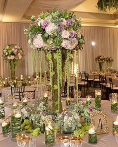 Photographer: Fabulous Occasions; Wedding reception centerpiece idea