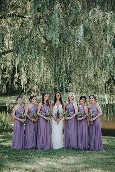 Lavender Bridesmaid Dresses Lavender Wedding Dress, Lavender Bridesmaid Dresses, Purple Wedding, Wedding Bride, Wedding Gowns, Bridesmaids, Lavender Weddings, Wedding Ideas, Wedding Blog