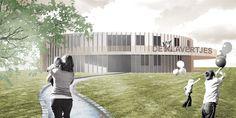 0000 DE KLAVERTJES: ontwerp voor een passieve basischool, polyvalente zaal en kinderdagverblijf te Gent.