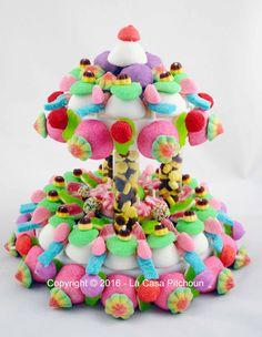 Gâteau de bonbons à colonnes