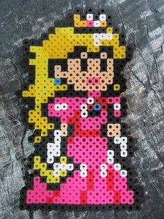 Princess Peach perler beads by staticjewel on deviantART