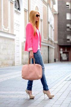 Pink Blazer #work #outfits #fashion #blazers #style #styleinspiration