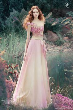 alena goretskaya wedding dresses 2013 vesta gown pink