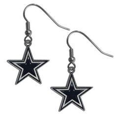 Siskiyou FDE055 NFL Dangle Earrings - Dallas Cowboys