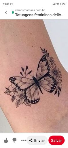 Butterfly Tattoos On Arm