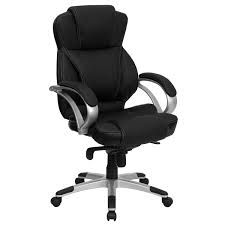Add supreme comfort to your office with the Flash Furniture Bonded Faux Leather Office Chair. Featuring a stylishly designed faux leather upholstery, this chic chair has an ergonomically contoured back and padded seat and arms that offer optimal support.