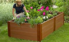 """4'x8'x22"""" - Composite Raised Bed - 1"""" Profile, Frame It All"""