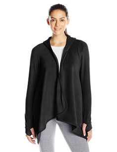 Cuddl Duds Women's Fleecewear with Stretch Hooded Long Sleeve Wrap -- This is an Amazon Affiliate link. More info could be found at the image url.