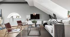 appartement contemporain sous les toits
