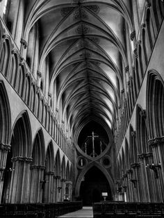 this shows the inside of a huge gothic cathedral. if you were to walk in here you would feel very tiny. gothic architecture is knows for being huge on the outside and inside. Architecture Antique, Ancient Greek Architecture, Architecture Images, Gothic Architecture Drawing, Ribbed Vault, Medieval Gothic, Gothic Castle, Gothic Buildings, Dome Ceiling