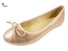329f345f29b4a Ballerines en toile façon reptile à noeud chaussure femme
