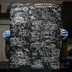 each one of these posters were hand executed by Feeceez (@feeceez) and Ekser (@3ks3r) and each one is totally unique - these are not prints. 22 in total are available. shipping worldwide for the Handstyler massive.  #handstyle #graffiti #ekser #feeceez //follow @handstyler on Instagram