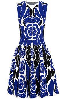 Alexander McQueen Floral jacquard-knit dress | THE OUTNET