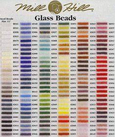 Mill Hill Glass Beads chart