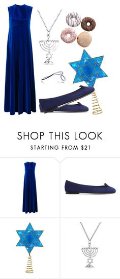 """""""Hanukkah"""" by michellesfashioncompany on Polyvore featuring Maison Rabih Kayrouz, Repetto, Kurt Adler and Bling Jewelry"""