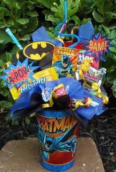 Batman Kids Candy Party Favors Made to Order. $4.75, via Etsy.