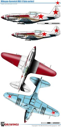 Mikoyan-Gurevitch (late) 'Soviet fighter battle for Moscow Ww2 Aircraft, Fighter Aircraft, Military Helicopter, Military Aircraft, Battle Of Moscow, P51 Mustang, Ww2 Planes, Aircraft Design, Military Equipment