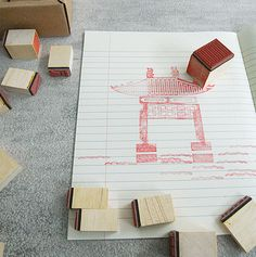 Chinese Architecture stamps - Art and design inspiration from around the world - CreativeRoots