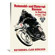 Global Gallery Automobile and Motorcycle Race - Munich Wall Art - GCS-382181-1824-142