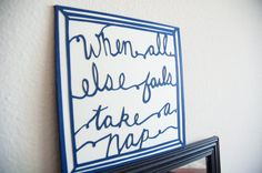 When All Else Fails Take a Nap Paper cut by SimplistiCreations $20