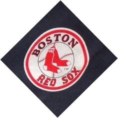 Red Sox logo 8 pieces cotton fabric blue Boston Red Sox.