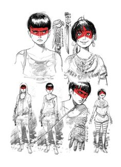 http://elliotalfredius.tumblr.com/post/47021336457/sketching-for-inspiration-and-to-find-characters --> the Moderns