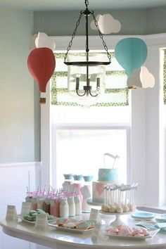 Hot Air Balloon (Oh The Places You'll Go) First Birthday Party Ideas