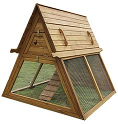 Portable Chicken Coop for 3 to 5 hens – Handcrafted Hen House Kit for Sale – Best Coop for Raising Chickens in Urban and Backyard Runs – Our Mobile Tractor Supplies Home Raised Eggs and Superior Nutrition Daily — by Handcrafted Coops A Frame Chicken Coop, Diy Chicken Coop Plans, Portable Chicken Coop, Chicken Coop Designs, Backyard Chicken Coops, Building A Chicken Coop, Chickens Backyard, Chicken Coup, Backyard Coop