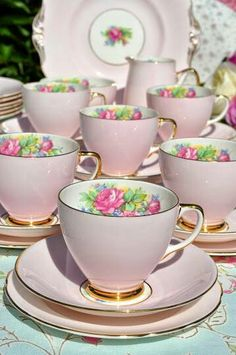 Beautiful teacups available at Antiques and More at Staley Road Champaign Il.