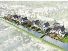 Architektenburo JJ van Vliet. Spuikade. 15 fraaie en duurzame woningen aan het water in Delfgauw.