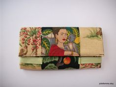 Frida in the Garden with Monkey Friends Tan and by joliefemme, $40.00