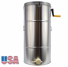 Enshey Two 2 Frame Stainless Steel Honey Extractor Manual Crank Bee Honeycomb Spinner Drum Bee Honey Harvest Beekeeping Equipment Honeycomb Drum, Ship from USA Days Honey Extractor, Honey Label, Beekeeping Equipment, Stainless Steel Tanks, Bee Supplies, Bee Honeycomb, Best Honey, Local Honey, Look Good Feel Good