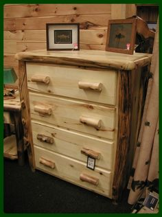 Aspen Log four drawer chest - flat drawer fronts