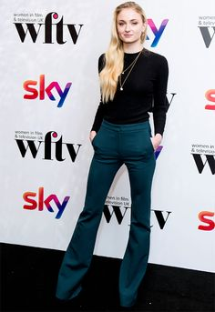 Sophie Turner attends the Sky Women In Film & TV Awards at London Hilton in London on December 2, 2016.