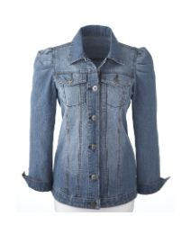 Denim jacket with a feminine touch of puff shoulders. Perfect for Spring days and nights, or cool summer evenings. Pair this with skirts, jeans or sun dresses and scarf or necklace for super cute look.