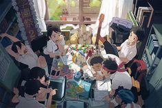 学園祭実行委員会 #anime #illustration
