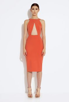 Killer Cut Out Knee Length Dress - Tiger Lily £120