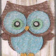 Big eyed owl string art all strung up