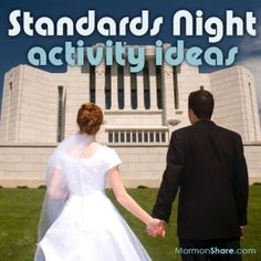 LDS Standards Night Programs - Ideas for LDS Young Women, LDS Primary, LDS Seminary, and Relief Society teachers and leaders.