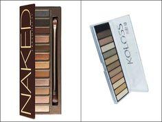Hit: Naked da Urban DecayQuanto? R$ 199 na SephoraAlternativa: Luxurius da Koloss Quanto? A partir de R$ 59,90 em farmácias e perfumarias.