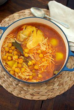 Rancho canario, receta tradicional