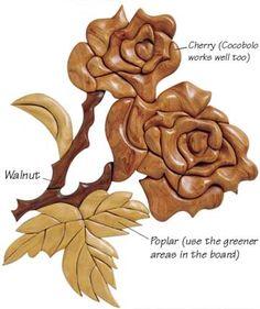 intarsia wood patterns free - Google Search
