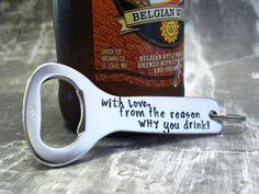 Personalized Bottle Opener, Custom Beer Opener, Gift for Groom-Best Man-Father of the Bride-Dad-Husband, Gift for Beer Drinker on Etsy, $18.00