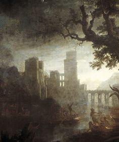 """Claude Gellée, dit """"Le Lorrain"""", Landscape with the Temptation of Saint Anthony, 1638."""