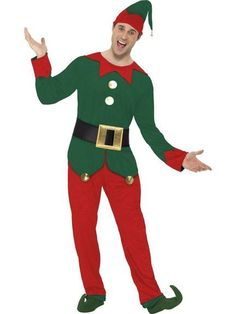 Mens elf fancy dress costume