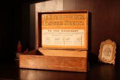 Vintage Flower Seed Display Box