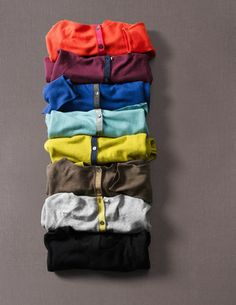 Everyday Button Back Sweater -- colors