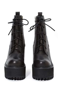 UNIF Choke Leather Boot - Heels | Lace-Up | Boots | Unif | Back In Stock